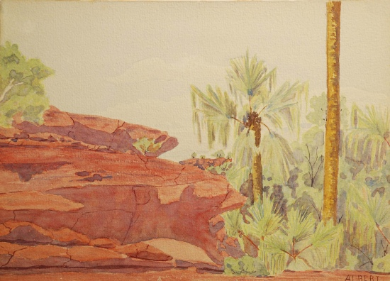 Albert Namatjira, Palm Valley, 1936