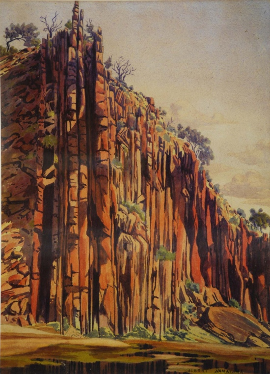 Albert Namatjira, Kwaritnama (organ pipes), c. 1943-53