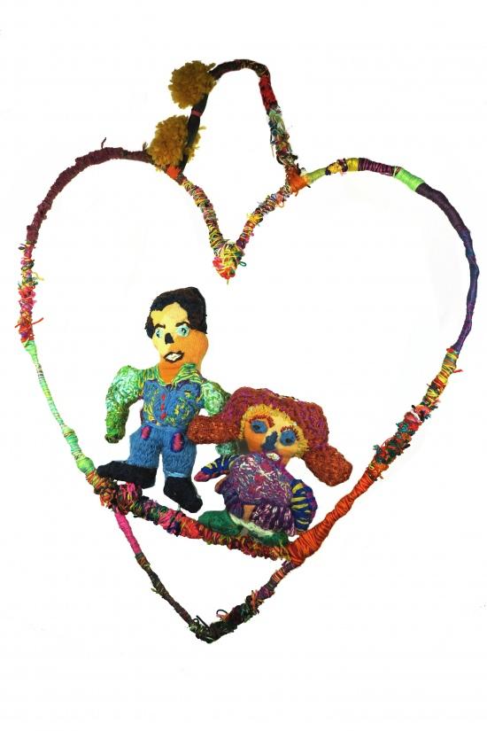 Marlene Rubuntja, Two Love People on Love Heart Swing, 2021