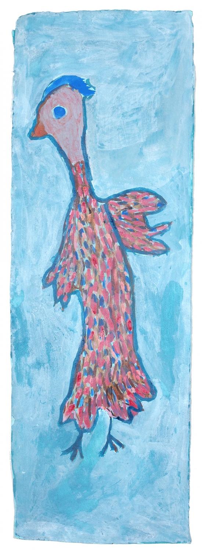 Trudy Inkamala, Bird with Blue, 2020
