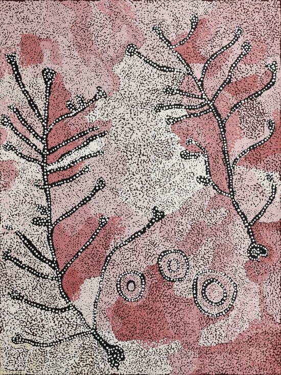 Nellie Ngampa Coulthard, Tjuntala Ngurangka (Country with acacia wattle), 2021
