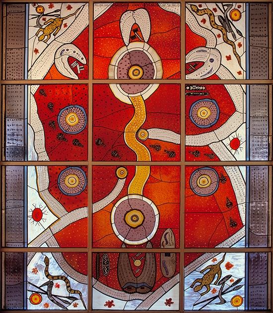 Wenten Rubuntja and Cedar Prest's Stained Glass Window