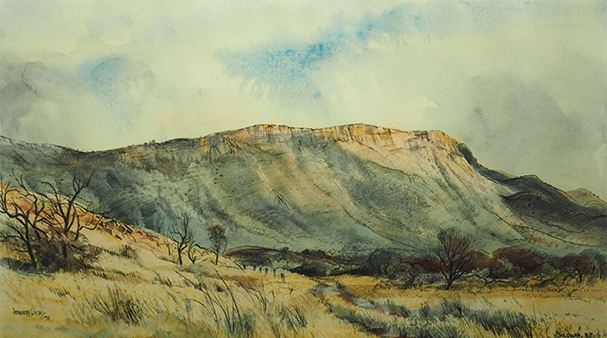 Kenneth Jack Mount Gillen 1978 Araluen Art Collection. Donated in 2018 by the former NT Administrator, the Hon. Tom Pauling