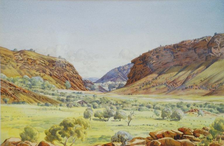 Albert Namatjira, Heavitree Gap, c.1944-54