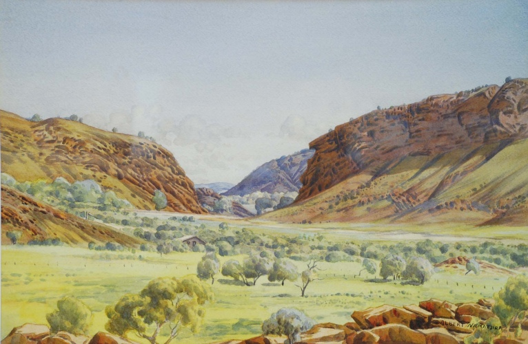 Albert Namatjira, Heavitree Gap, c.1944-54