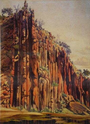 Albert Namatjira, Kwaritnama (organ pipes), c. 1943-53