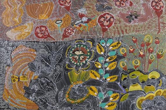 Martha Nakamarra Poulson, Patterns of landscape, 2021